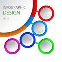 Molde infographic 3D abstrato com cinco etapas para o sucesso. vetor