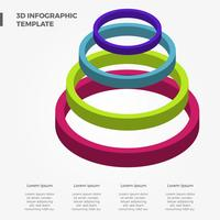 Flat 3D Colourful Infographic Vector Template