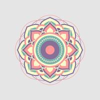 Mandala Ornament Design Vector Logo Template Illustratieontwerp. Vector EPS 10.