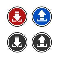 Download and Upload Sign Vector Template Illustration Design. Vector EPS 10.