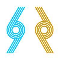 Rope Ornament Lines Logo Template Illustration Design. Vector EPS 10.