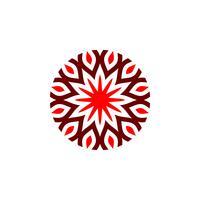 Stern-Blüten-Blumen-dekoratives Logo Template Illustration Design. Vektor EPS 10.