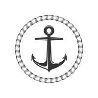 Anker-Logo Template Illustration Design. Vektor EPS 10.