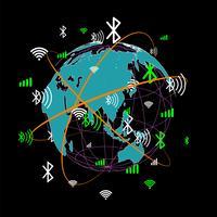 Comunicación mundial abstracta.