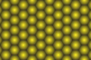 Glowing golden yellow hexagon background vector
