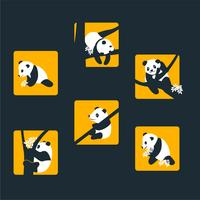 Pandas vektor