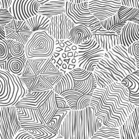 Decorative pattern drawing seamless background.