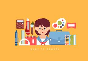 Torna a scuola Essentials Vector Illustration