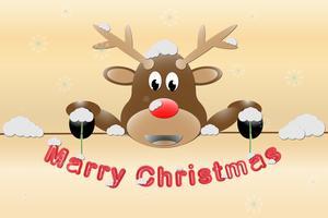 Sfondo di Natale cervi