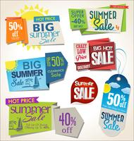 Price tag summer retro vintage collection vector illustration