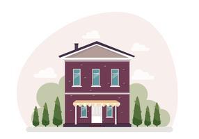 Illustration de maison de vecteur