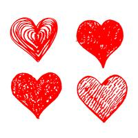 Hand getekend hart pictogram teken