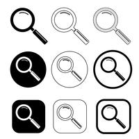 Magnifying glass sign  search icon