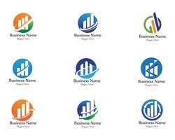 Finanzas logo y símbolos vector concepto