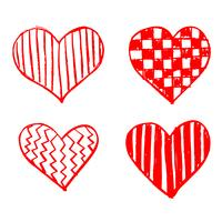 Hand getekend hart pictogram