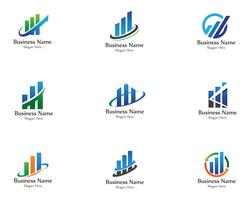finance logo and symbols vector concept
