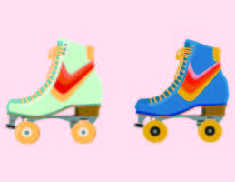 Retro patins