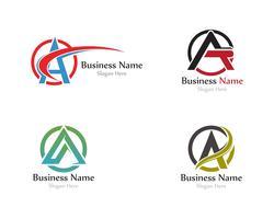 Um logotipo da carta com swoosh vector