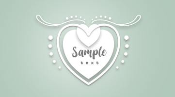 A ilustração vetorial de coração branco corta o arquivo SVG.