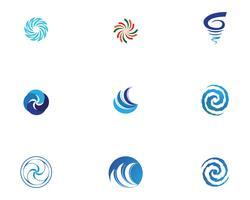 Vortexlogo och symbolvektor