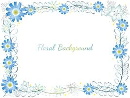 Watercolor flower frame.