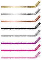 Insieme di elementi di design colorato pastello isolato su uno sfondo bianco.
