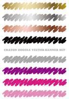 Conjunto de elementos coloridos del diseño del creyón aislados en un fondo blanco.