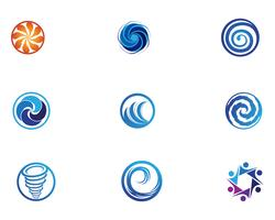 Vortex-logo en symbool vector