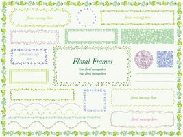 Set of assorted flower and plant frames. vector