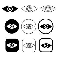 Set sign of Eye icon