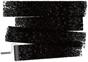 Dipinga il fondo astratto del rullo isolato su un fondo bianco.
