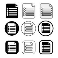 Icono de archivo de documento simple. Papel doc signo