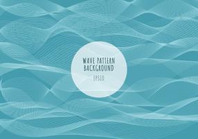 Motif de vagues de lignes blanches de mer abstraite sur fond bleu. Rayures ondulées, surface rugueuse.