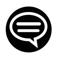 Sprechblasen-Chat-Symbol