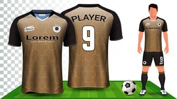 Soccer Jersey, Sport Shirt or Football Kit Uniform Presentation Mockup Template.