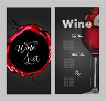Vector design for wine list.