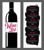 Wine list design.