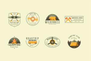 Travel adventure illustration logo collection vector