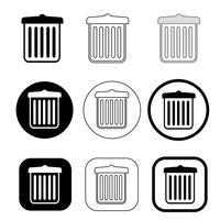 icono de papelera de reciclaje de papelera