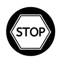 Pare o ícone de sinal