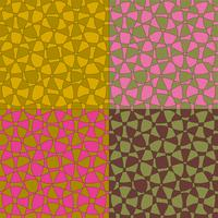 two tone mod abstract vector patterns