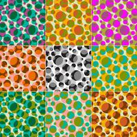 transparent overlapping circles vector patterns