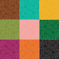 outline circles vector patterns