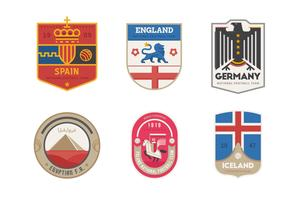 Conjunto de logotipo de país de time de futebol