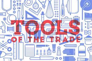 Flat medical tools set bundle