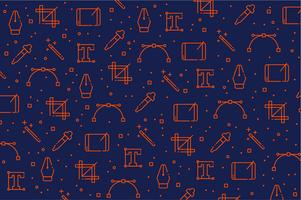 Graphic designer tools icon pattern background