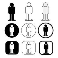 Set sign of People icon vector