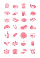 Food & drinks illustration icons set collection