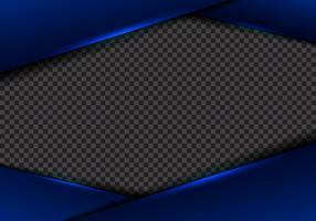 Abstrakt mall blå ramlayout metalliskt blått neonljus på transparent bakgrund. modernt lyx futuristiskt teknikkoncept.