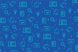 Fondo de patrón de icono de herramientas de diseñador web